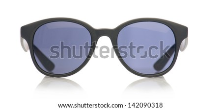 Close-up Of Sunglasses Isolated Over White Background - stock photo