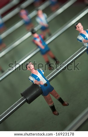 Close up of table football players - shallow dof - stock photo