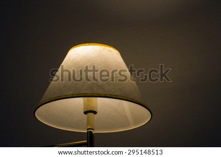 close up of  table lamp on bedroom