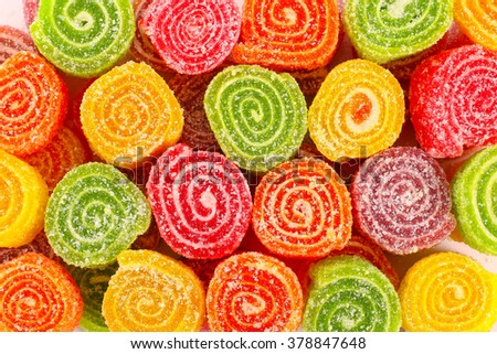 Close up of tasty sweet colorful candies - stock photo