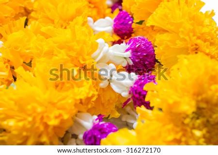 Close up of Thai  garland - stock photo