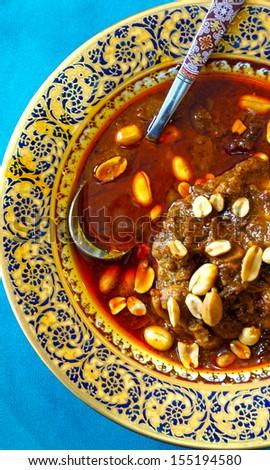 Close up of Thai massaman curry chicken - stock photo