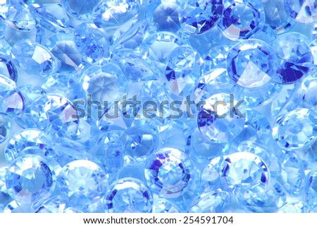 close up of the blue diamond background - stock photo