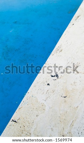 Close up of the edge of apool, texture style - stock photo