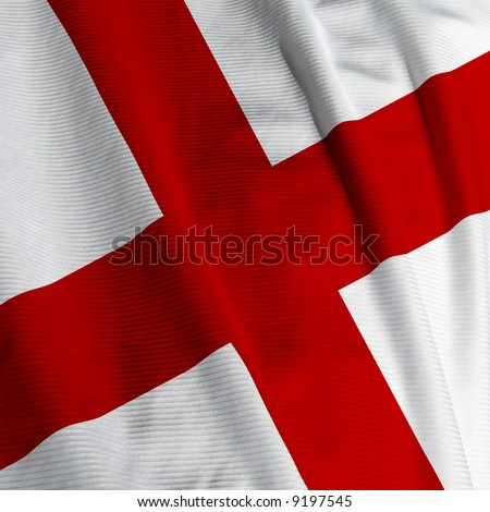 Close up of the English flag, square image
