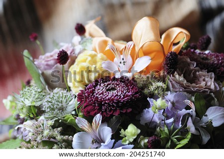 Close-Up Of The Flower Arrangement