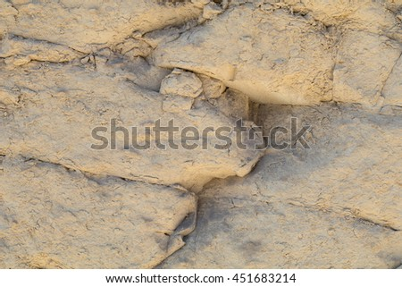 Close up of the Globerigina Limestone walls surrounding Valletta the capital of Malta, Europe. Used as background for many film sets, including Gladiator, Troy, World War Z and Assassin's Creed. - stock photo