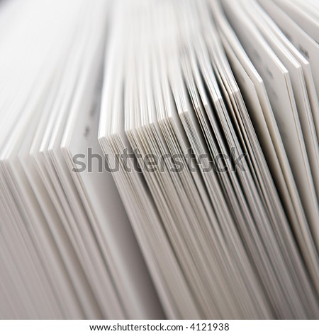 Close up of the pages of a book slighty fanned out - shallow dof