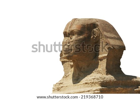Close-up of the sphinx in giza;egypt - stock photo