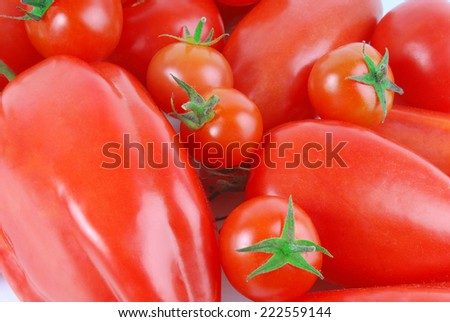 close up of the tomato - stock photo