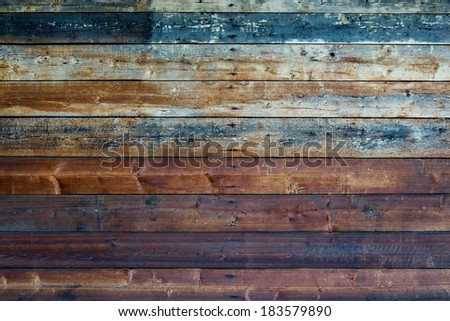 Close-up of the wall of the old pine planks