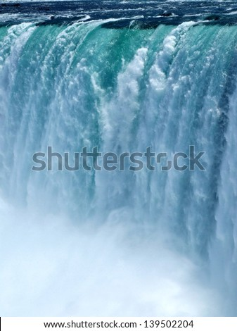 Close up of the waterfall at Niagara Falls  - stock photo