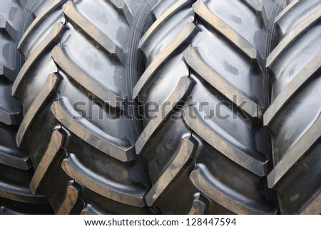 Close up of tire - stock photo