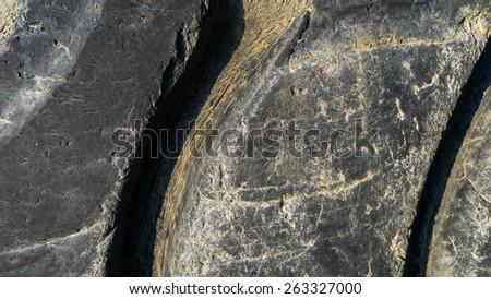 Close up of tire tread - stock photo