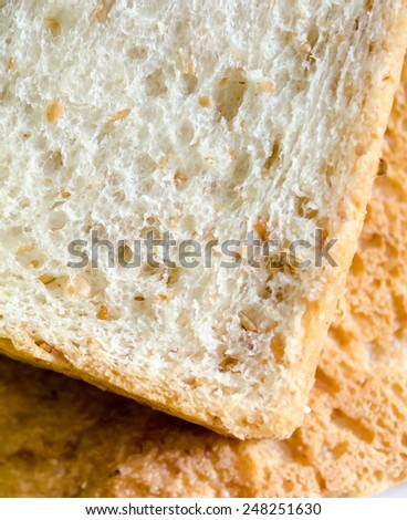 Close-up of toasts bread