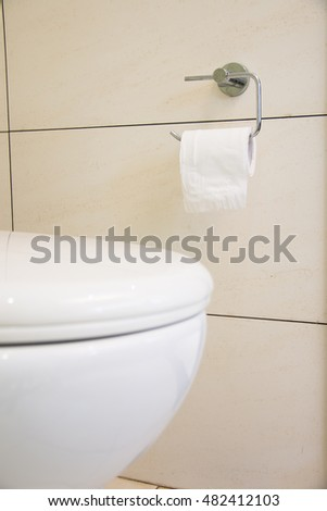 Close Up of toilet tissue