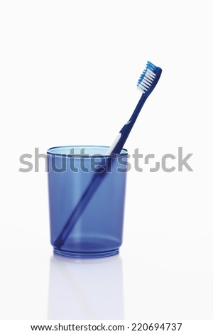 Close up of toothbrush in toothbrush holder