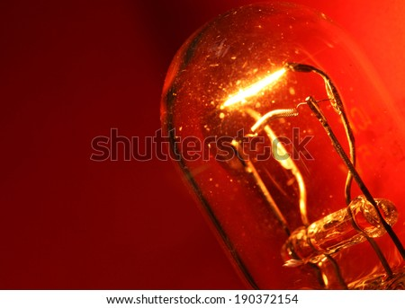 Close up of  Tungsten Bulb