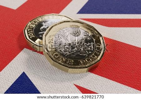 Closeup 2017 British Pound Coin 3d Stock Illustration 639821791 Close