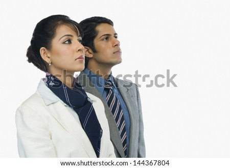Close-up of two business executives - stock photo