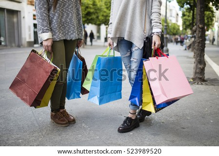 Carrying Shopping Bags Stock Images, Royalty-Free Images & Vectors ...