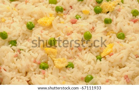 close-up of typical Chinese fried rice