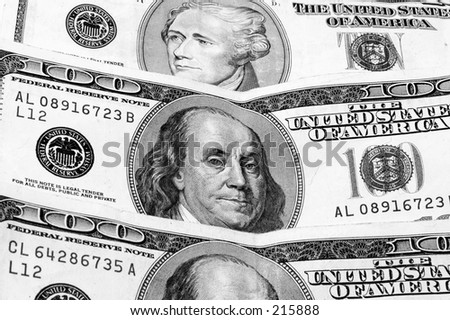 Close up of US currency
