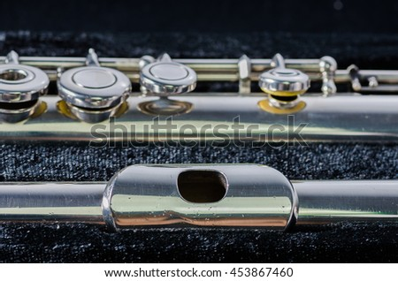 close up of used open hole flute