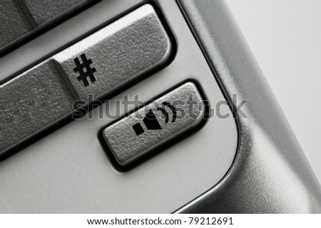 Close up of volume button - stock photo