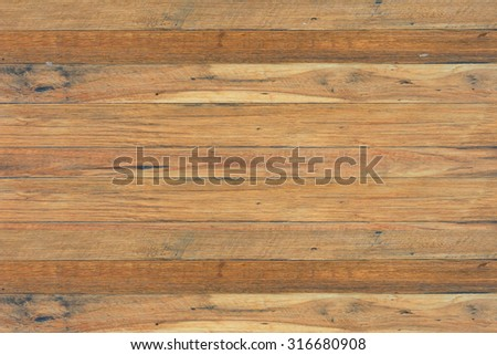 close up of wall made of wooden planks - stock photo