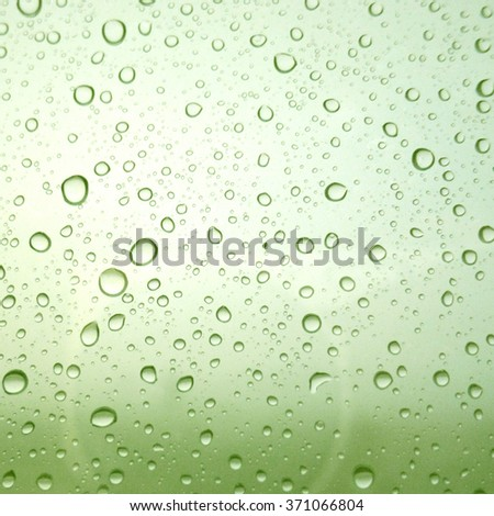 Close-up of water drops on glass surface as background