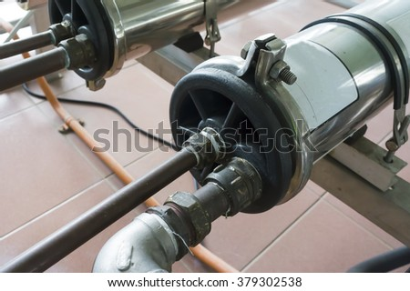 Close up of water filter for treatment clean water - stock photo