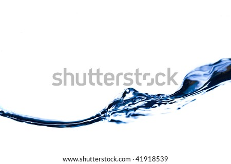Close-up of water in motion on white background