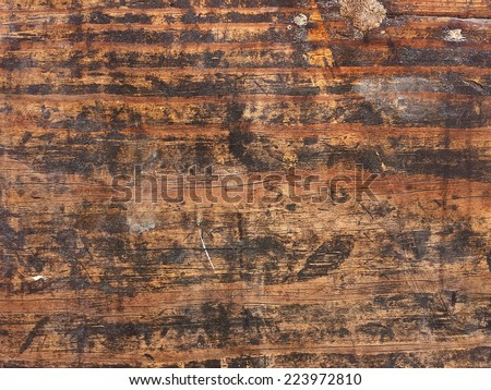 close up of weathered wood with grungy stains