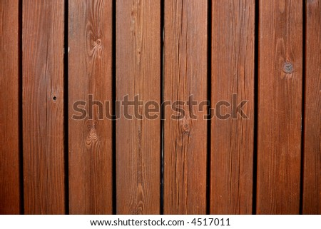 Close up of weathered wooden garden decking - stock photo