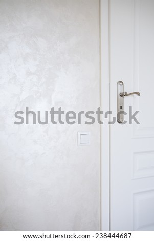 Close-up of white door