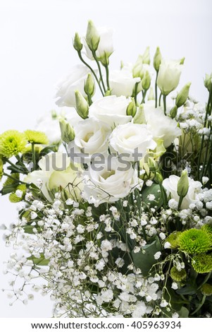 Close up of white roses - stock photo