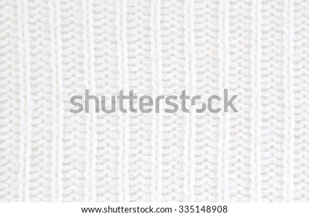 close up of white wool textile - stock photo