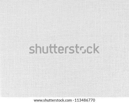 Close up of white woven fabric structure - stock photo