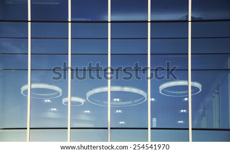 Close up of Window on New Office Building - stock photo