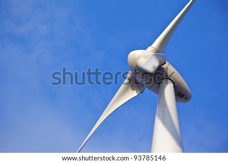 Close up of Windturbine - stock photo