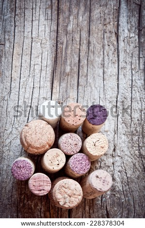 close up of wine cork. background