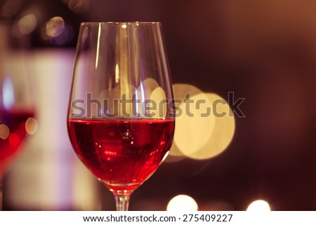 Close-up of wine glass.