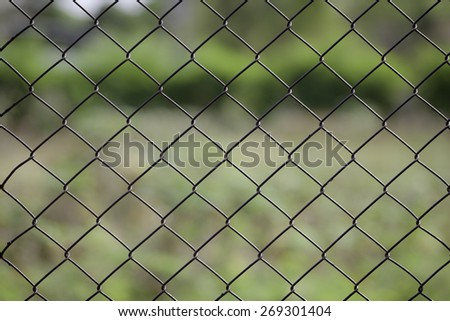 Close up of wired fence pattern background