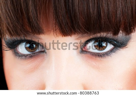 Close up of woman eye - stock photo