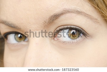 close up of woman eyes - stock photo