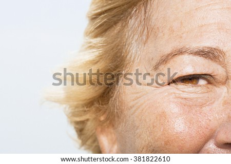 Close up of woman's face - stock photo