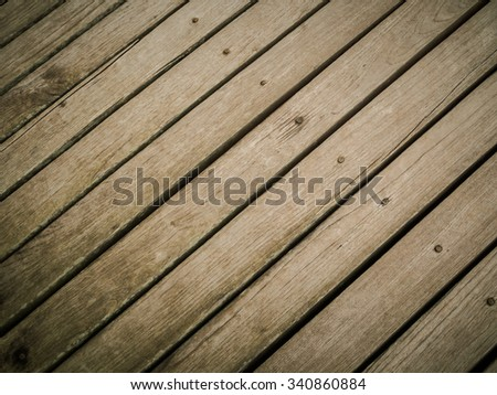 Close up of wood texture in vintage style color background