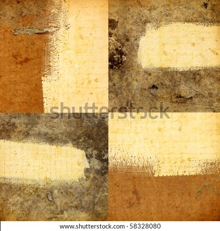 Close up of wood with brush lines - stock photo