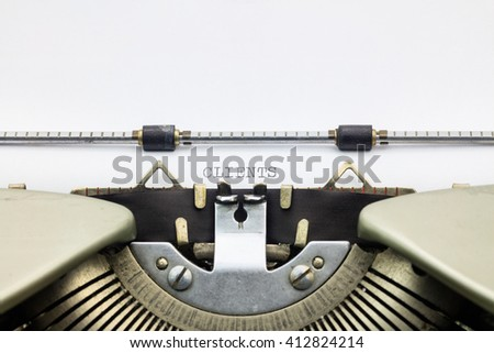 Close-up of word Clients  on typewriter sheet - stock photo